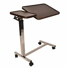 Deluxe twin top over Bed or Chair Table with 4 castors mobility disability aid
