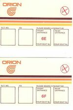 ORION 2 AIRLINE BOARDING PASS