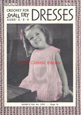 Beautiful Crocheted Dresses for Little Girls Coats&Clark Pattern Book No.211 ~CD