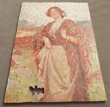 Young Lady - Antique Vintage 1920's Wooden Jigsaw Puzzle with Whimsies