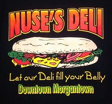NUSE'S DELI sub tee XL Morgantown downtown Pennsylvania T shirt Fill Your Belly