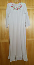 Vintage Night Gown White Glencraft Lingere Country Prairie Womens M