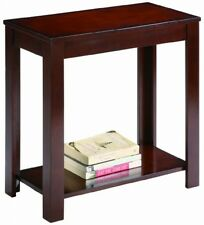 Small Narrow Wooden Espresso Crown Mark Chair Side End Table Home Furniture New
