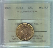 1913 Canada $5 Gold - ICCS MS-63