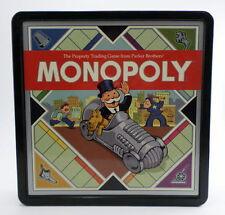 Monopoly Retro Board Game Set  Parker Brothers Black Box Wood Antique Pieces '08