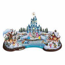 Disney Christmas Cove Illuminated Village Sculpture Princesses Mickey Minnie NEW