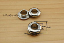 eyelets metal with washer grommets nickel solid brass round 8 sets 8 mm K152
