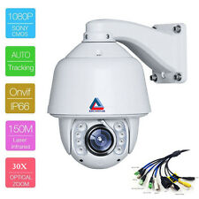 30X Zoom Auto Tracking HD 2.0MP Outdoor PTZ IP High Speed Dome Camera SONY CMOS