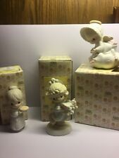Precious Moments figurines Lot of 3 Boxed Near Mint 15776 521450 & 109967