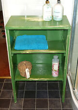 Vintage Cabinet Retro Cupboard Shabby Chic Painted Army Wash Stand, Folding