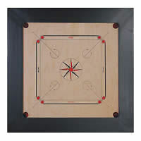 Synco Bull Dog Tiger Carrom Board 28 mm with Free Striker & Coins