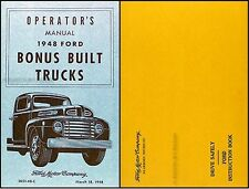 1948 Ford Pickup and Truck Owners Manual with Envelope 48 F1 F2 F3 F4 F5 F6-F8