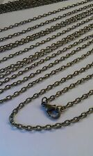 "12 x 24"" Antique Bronze Tone  Lobster clasp textured chain necklace 4.5 x 3 mm"