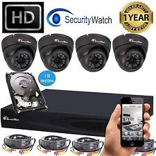 SWATCH 4CH 2MP 1080P HD DVR CCTV Outdoor Home Security Camera System Kit 1TB *43