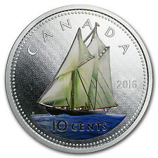 2016 Canada 5 oz Silver $1 Big Coin Series (10 Cent Coin) - SKU #96643
