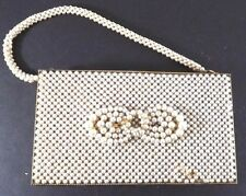 Schildkraut Designed Womens Compact Vintage Unused Beaded Pearl 5 inch x 3 inch