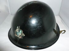 VINTAGE  BLACK FIRE HELMET BURY FIRE BRIGADE FIREFIGHTER/FIRE SERVICE