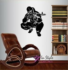 Wall Vinyl Decal Sniper Shooting Soldier Boy Military Man Wall Sticker 240