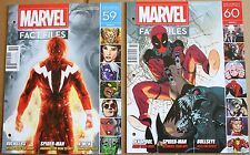 Lot 2 Marvel Fact Files 59 60 Adam Warlock Deadpool Covers Eaglemoss Magazine