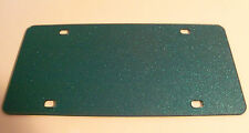 """Blank Teal With Sparkles Acrylic License Plates 12"""" x 6"""" Wholesale"""
