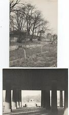 Two Large 1940s Photos of Seoul South Korea Monument and Audience Hall