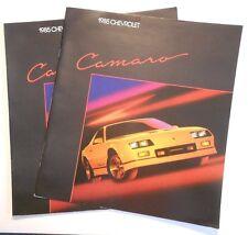 1985 Original lot of 2 Chevrolet Camaro Sales Brochure