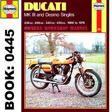 DUCATI MK3 Desmo 239 250 350 450 singles 1969-76 Haynes Manual De Taller