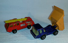 2x alte Spielzeugautos/Vintage toy cars MATCHBOX: Atlas + Blaze Buster