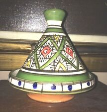 Beautiful Handmade Moroccan Tagine Tajine Terra-Cotta Glazed Pottery