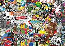 6 x A5 Sticker Bomb Sheet - JDM EURO DRIFT VW - Design 529 - (148MM x 210MM)