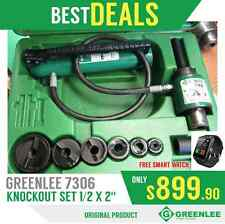 GREENLEE 7306 SB KNOCKOUT SET 1/2 X 2', GOOD CONDITION, FREE WATCH, FAST SHIP