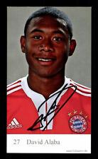 David Alaba Autogrammkarte Bayern München 2009-10 Original Signiert +C 242