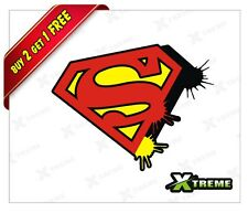 XTREME-in SUPER MAN LOGO REFLECTIVE STICKER FOR CAR, BIKE, DOOR,GLOSS (3.5 inch)