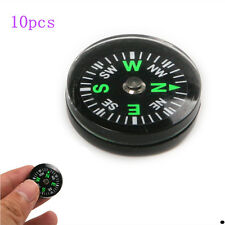 10x Mini 20mm Pocket Liquid Filled Button Compass for Hiking Camping Outdoor