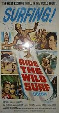 "Original RIDE THE WILD SURF 3 Sheet 41"" x 81"" Virgin near mint"