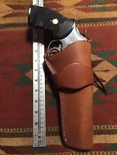 "Ruger GP100 S&W 586 686 19 Ruger Gp100 Security Six 6"" Western Leather Holster"