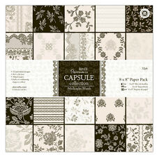"Papermania 8 x 8 ""Scrapbooking Capsule Collection 32 hojas de papel de la medianoche Blush"