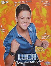 LUCA HÄNNI - A2 Poster (XL - 42 x 55 cm) - DSDS Clippings Fan Sammlung NEU