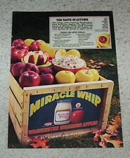 1975 ad page -Kraft Foods Miracle Whip salad dressing- Cheese & Apple dip recipe