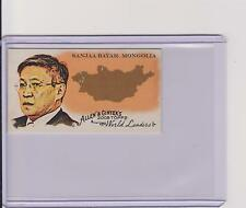 2008 ALLEN & GINTER WORLD LEADERS MINI CARD ~ SANJAA BAYAR MONGOLIA #WL27