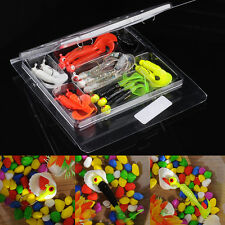 17 Pcs Simulation Lures Baits Fishing Lures Set and Jig Lead Head Hooks Silicone
