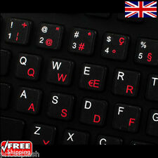 Swiss German/French Transparent Keyboard Stickers for Laptop Notebook - 6 Colour