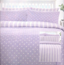 """TRURO""  DUVET SET  SUPER KING SIZE...SHADES OF LILAC/WHITE"
