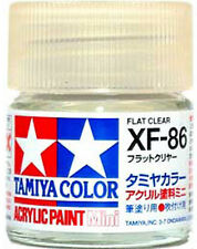 TAMIYA COLOR ACRYLIC XF-86 Flat Clear MODEL KIT PAINT 10ml NEW