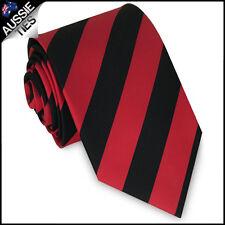 MENS RED & BLACK STRIPE SPORT TIE stripes striped necktie