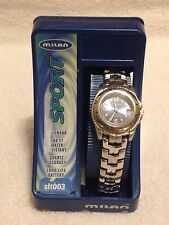 NOS Women's Ladies Milan Sport watch calendar/date 100ft water resistant silver