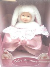 Baby Bunnies in Easter Basket Babies Doll Anne Geddes White Bunny Rare Gift Box