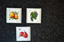 2016USA #5037 5038 5039 1c 5 10 Apples Grapes Pears - Coil Set of 3 Singles Mint