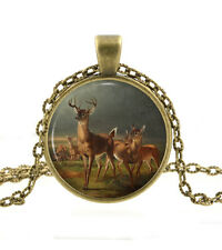 Deer Necklace Pendant - Bronze Jewelry - Woodland Animal Nature Art Gift for Mom