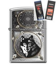 Zippo 0415 Wolf & Indian Dream Lighter with *FLINT & WICK GIFT SET*